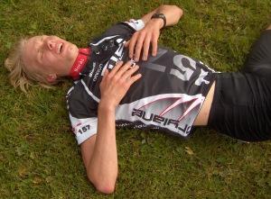 Erik Wickström trött efter Duathlon-SM 2007