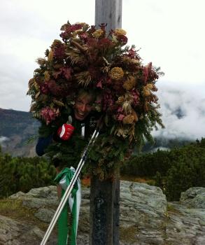 Toppen av Schladmings störtloppsbacke förra året.