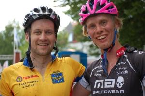 Jesper Hjortsberg är båda snäll och bra på att cykla.