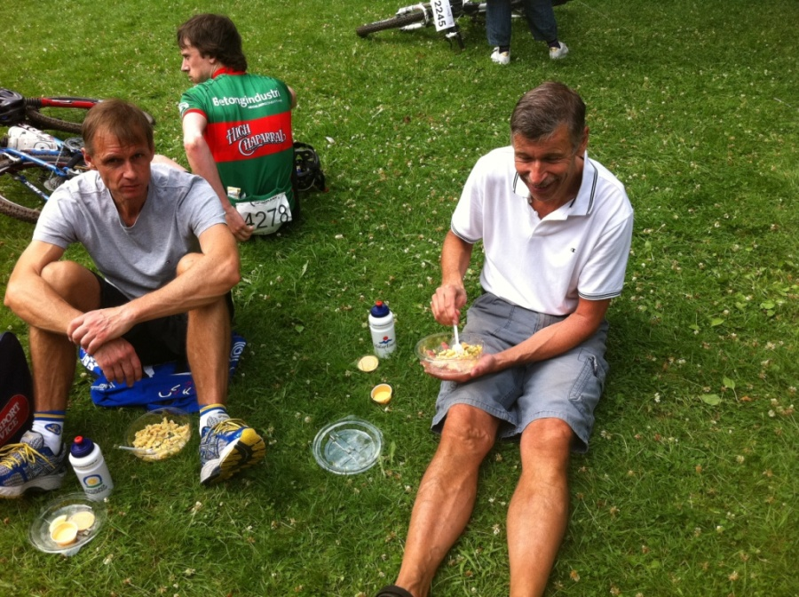 MTB-cyklister ingår i mat för cykel-programmet.