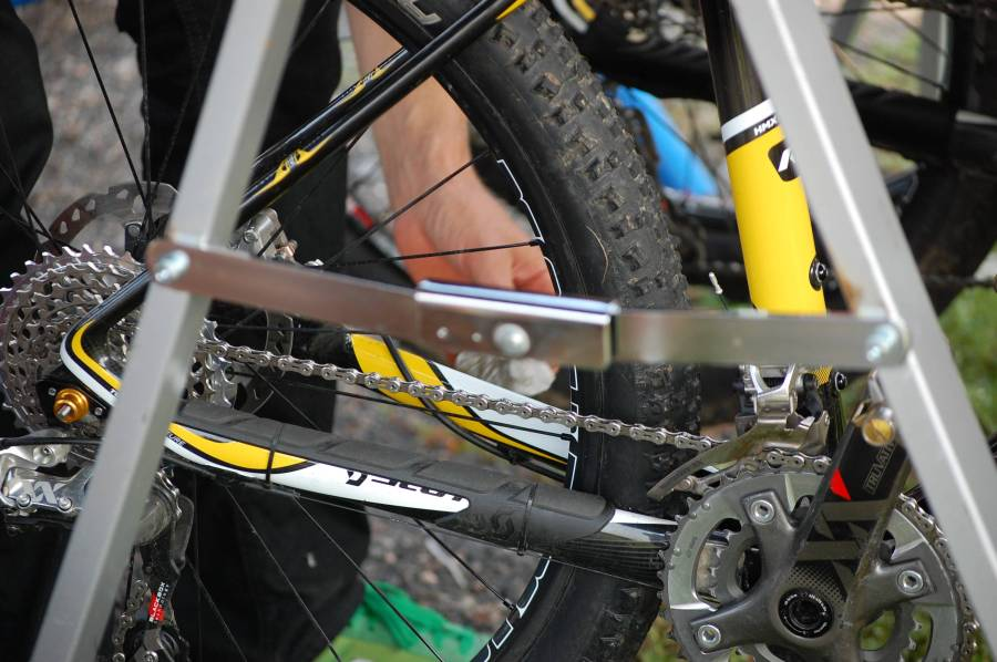 Del av segraren Lars Bleckurs cykel.