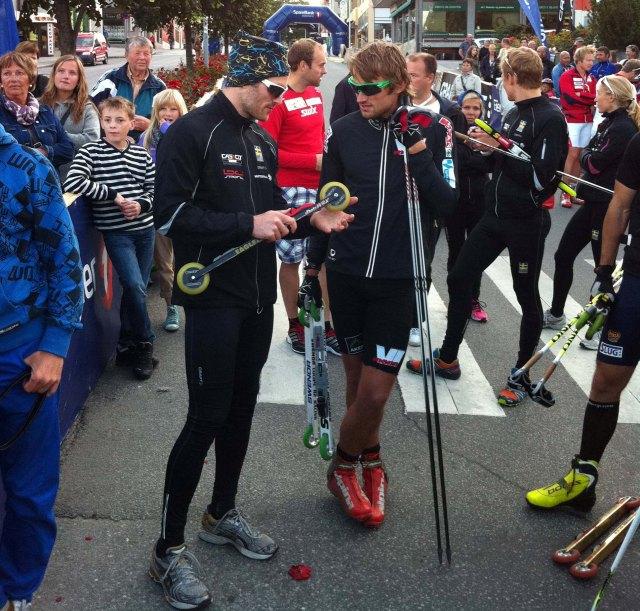 Vad säger Tobias Westman till Petter Northug efter VM-stafetten?