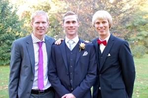 ...och deras karlar Mattias (190 cm), Nille (188 cm) och Erik (187 cm, fan också)
