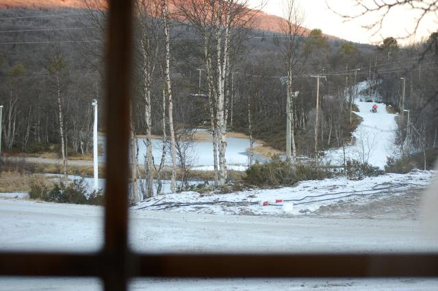 Morgonbild från vår stuga i Bruksvallarna.