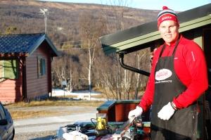 Micke siktar på OS 2014 för Island. Som vallare åt Brynjar.