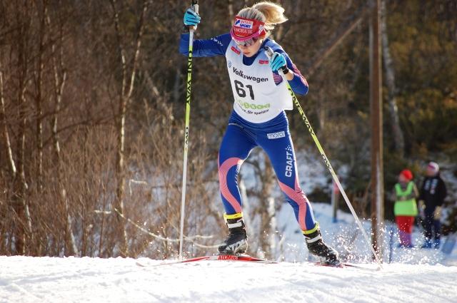 Hanna Seppas, en av många duktiga skidåkare från Götaland