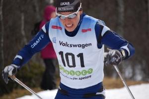 Charlotte Kalla mot seger i Bruksvallsloppet 2011