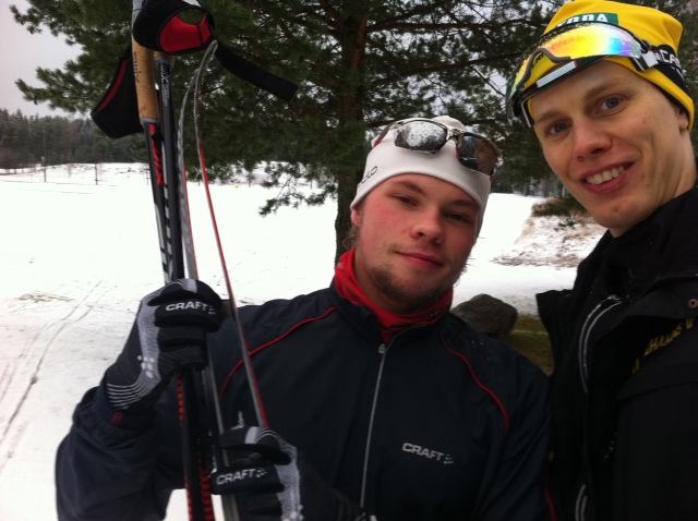 Jesper Brofjärd och jag vid en golfbana ca 15 km utanför Borås