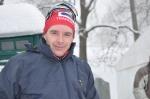 Markus Jönsson åkte på ruggskidor och hade nog bäst skidor i hela startfältet i första uppförsbacken.