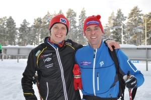 Mora Nisse och Staffan Larsson och jag i Mora.