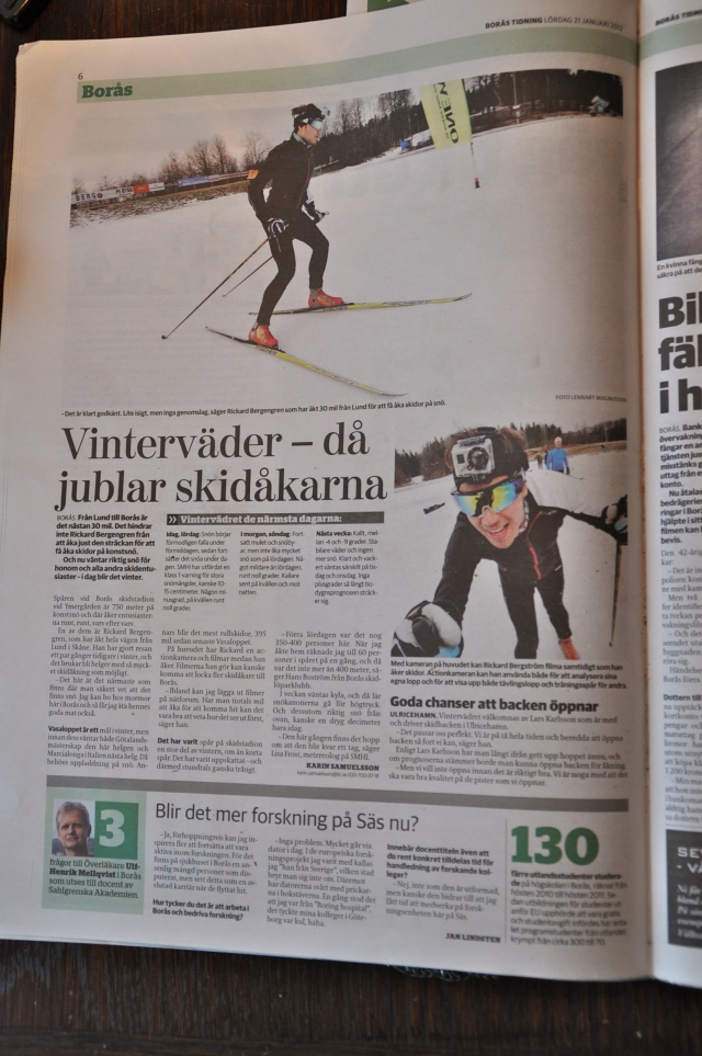 Rickard Bergengren skejtar välkitat från Pölder