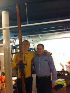 Jag och Anders Romson, spårchef för Vasaloppet 1985-1988. Snäll man.