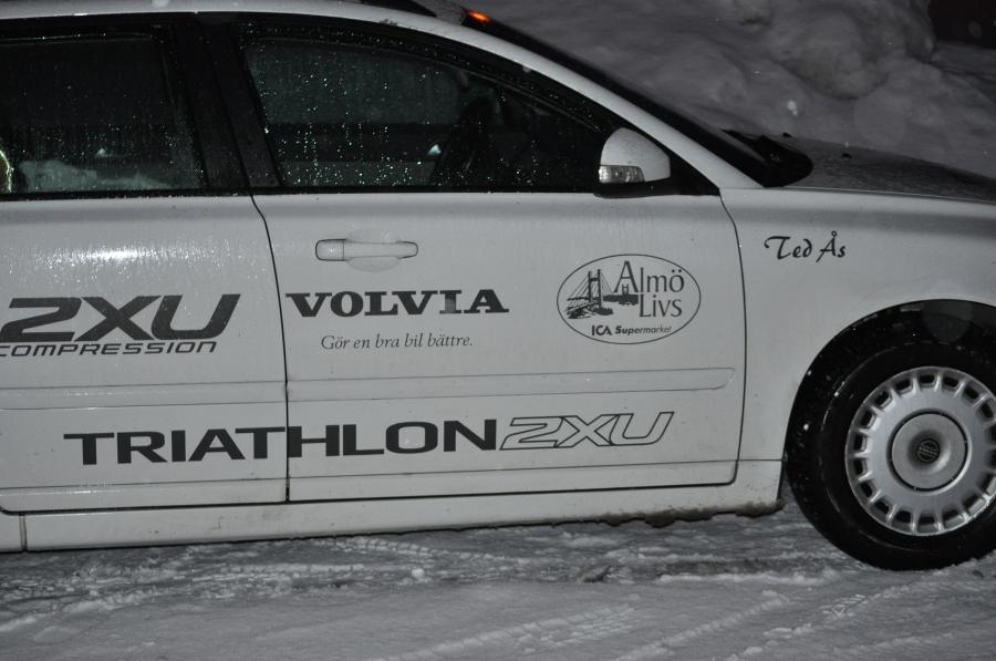 Ted Ås som triathletar på hög nivå var på plats för att visa upp sina kompressionskläder 2XU