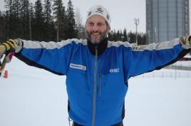 H-C Holmberg som han såg ut när jag fångade honom en vinterdag i Östersund för några år sedan.