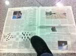 Jag försöker alltid läsa några tidningsartiklar när jag är i Tyskland. Stort format och få bilder!