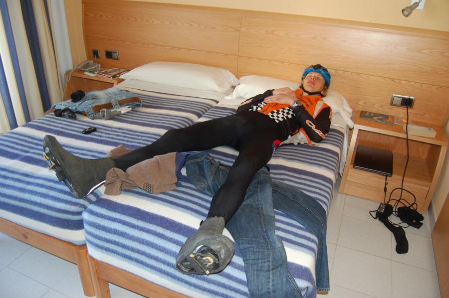 Sömnig efter 21 mil i bergen