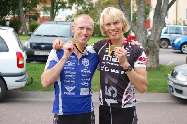 Oskar och Erik efter Finnmarksturen i somras