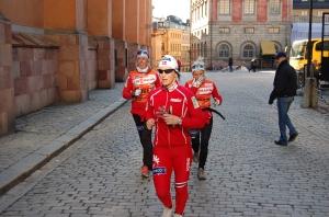 Steira, Björgen, Johaug i slottssprinten i Stockholm där jag gick runt med en kamera för hundra år sedan.