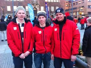Jesper, Jocke och Kalle. Borås SKs stafettlag som siktar högt.