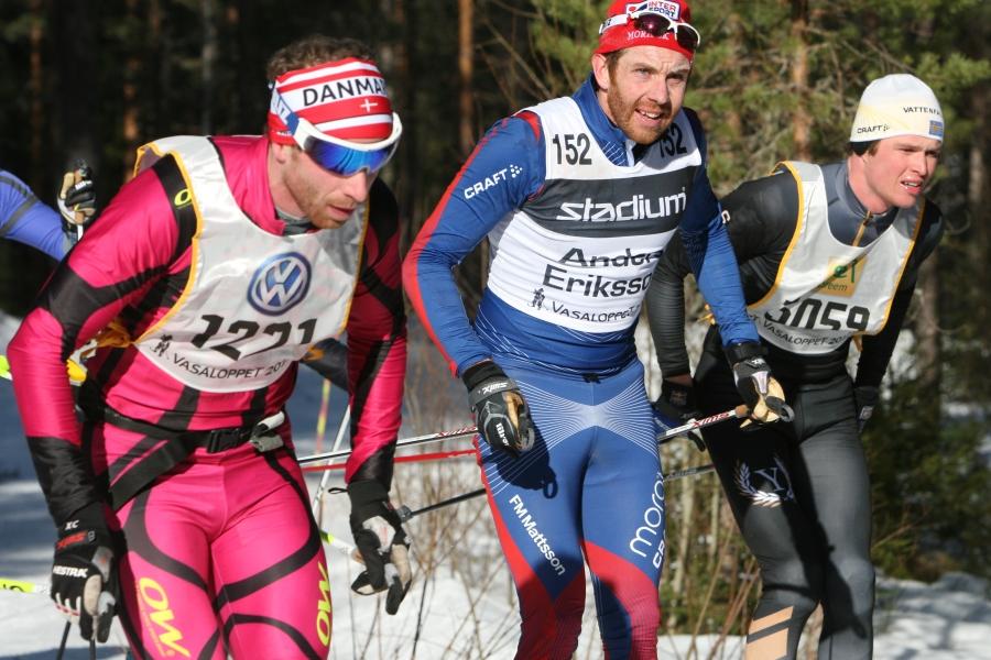 Anders Eriksson i mitten, dansken Asger Fischer Mölgaard till vänster