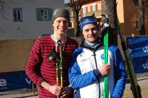 Ronnie Lööf är 183 cm. Hans stavar är 180 cm.