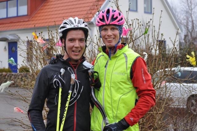 Rickard Bergengren och jag på Bjärehalvön