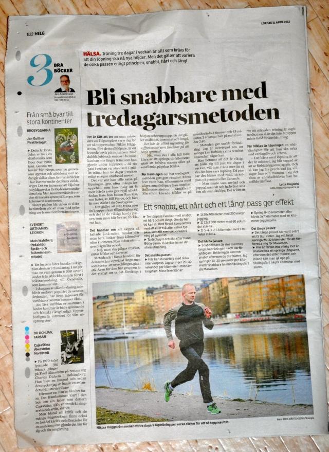 Helsingsborgs Tidnings helgbilaga 21 april 2012