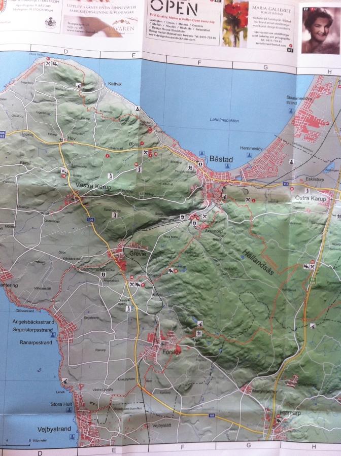 Karta Over Bjarehalvon Inklusive Hallandsasen Erik Wickstrom