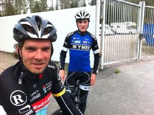 Robban och Ludvig Bengtsson, far och son, båda i elitklassen