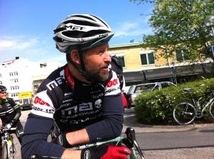 Stefan Palm när vi cyklade en sväng förra året