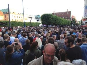 Stora Torget i Borås på 2012 års första Sommartorsdag