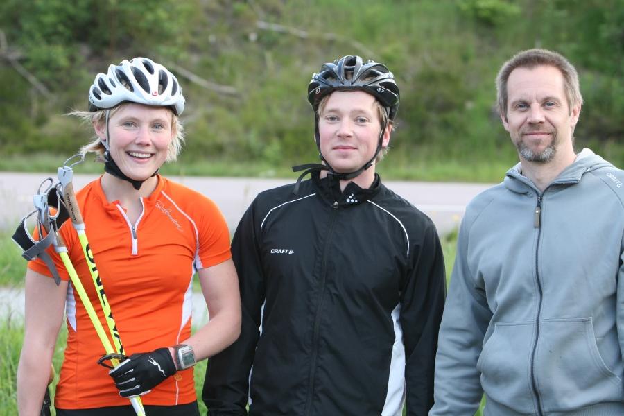 Fia, Gustaf och Håkan från Ski Team Skåne