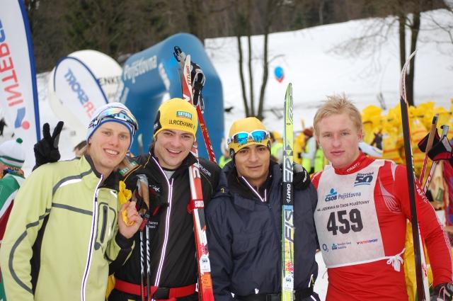 Alexander Westberg (till höger) i Jizerska 50 för 1,5 år sedan