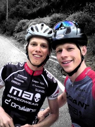 Erik och Martin på Mallis förra våren