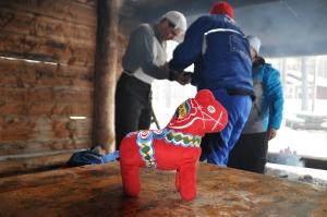 Mora-Nisse upplevde en av sina livs största dagar då han i vintras fick tillbringa flera timmar tillsammans med sin idol Staffan Larsson när jag gjorde ett Retro-jobb för Vasalöparen
