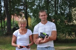 Fia Jobs och Daniel Olsson, gårdagens segrare