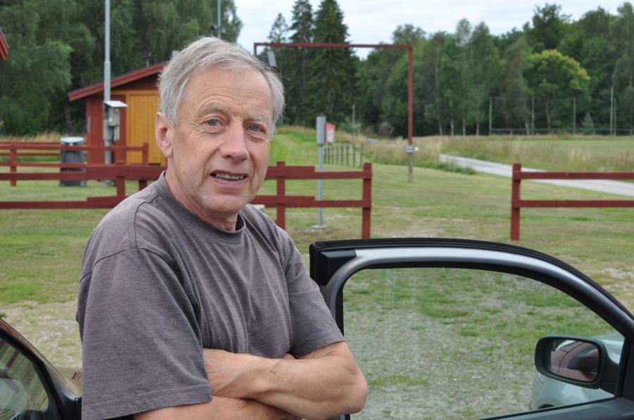 Tommy. En härlig eldsjäl som visade oss runt vid Karlsnäsgården efter rullskidstävlingen i söndags