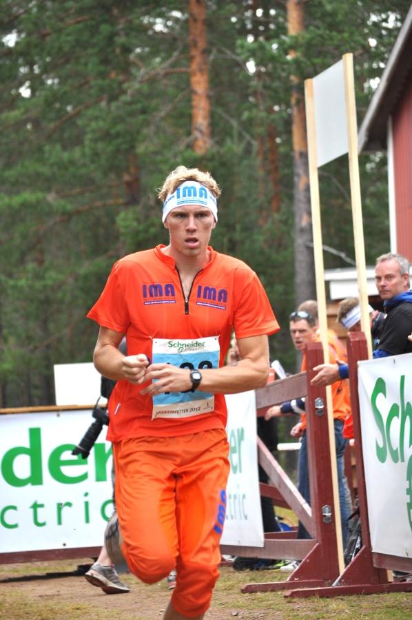 Albin Olausson var snabbast av alla i herrklassen mellan Läde och Eldris