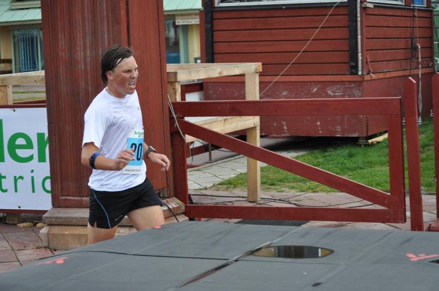 Mikael Sandgren går i mål som vår avslutare
