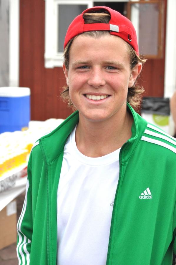 Olle Axelsson från Borås har precis börjat skidgymnasiet i Mora