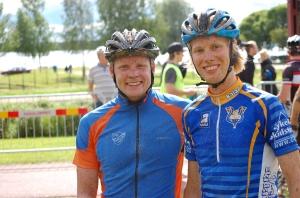 Lars Suther och jag sällskapade en del under loppet 2009
