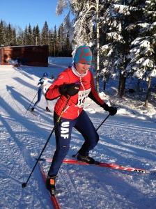 Ida saxar i Västgötaloppet Tjejer 18 km.