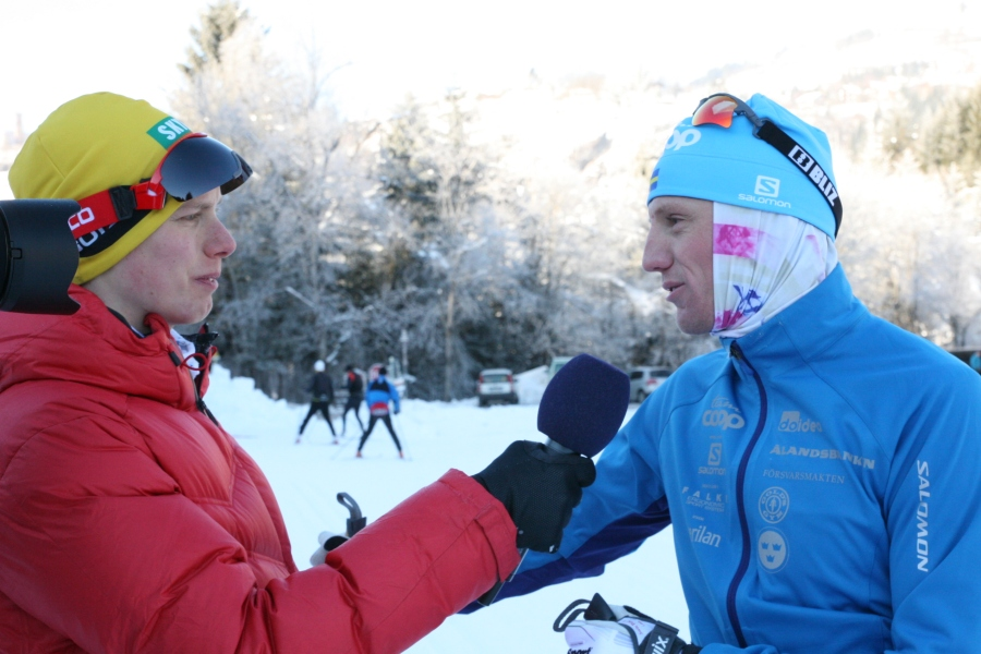 Intervjuer för Swix Ski Classics YouTube-kanal dagen innan loppet