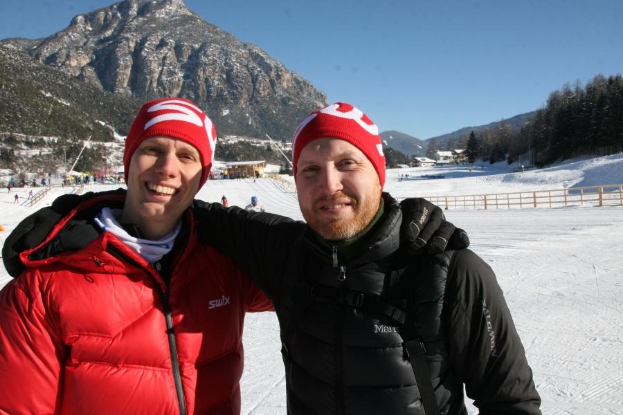 Swix Ski Classics fotograf Magnus Östh och jag gjorde många intervjuer dagen innan loppet