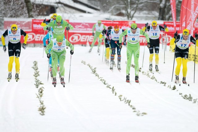 König Ludwig Lauf finish. Gott om folk.