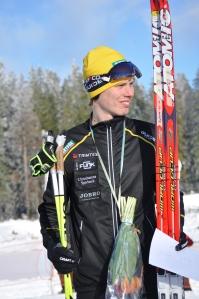Ulricehamnslopet/Västgötaloppet förra året. Jag blev 3:a efter Markus Jönsson och Peo Svahn efter att jag stakat 42 km utan fästvalla.