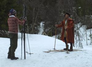 Gustav I filmen, skärmdump av trailern.