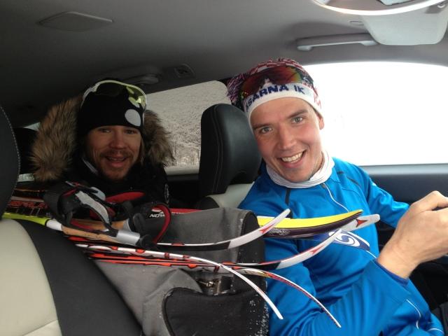 Mattias Carlzon och Rickard Bergengren. Alltid skitroliga att träna med. Mycket diskussioner kring nya prylar, puls och spannhöjder.