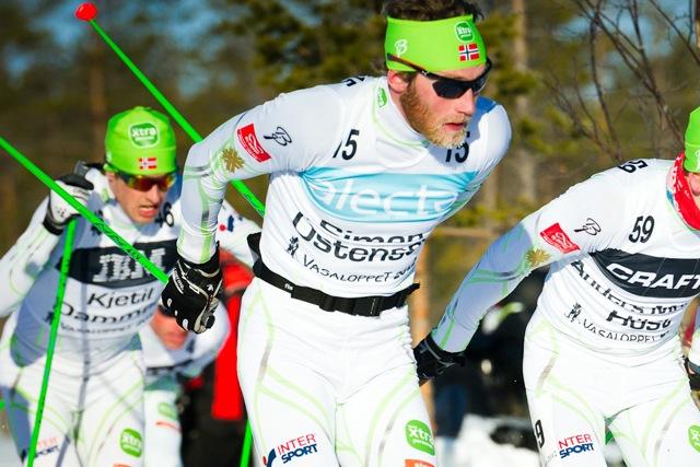 Simen Østensen i Vasaloppet 2012, som han sedan bröt. Foto: Magnus Östh