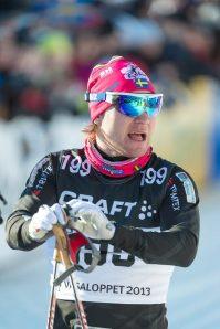 Robin Bryntesson blev 40:e man på tröga skidor